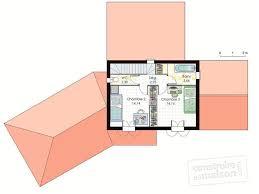 plan de maison en v plain pied 4 chambres plan maison en v avec etage 10 de 90m2 plain pied 3 systembase co
