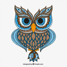 ornamental owl vector free