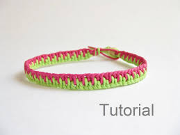 make knot bracelet images Knotted bracelet photo tutorial pattern pdf pink green jewelry jpg