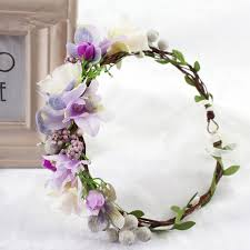 girl hair accessories 2018 wedding flower headband wreath hairband party flower