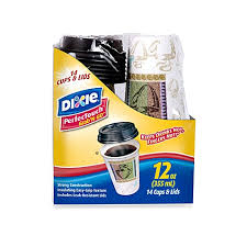 dixie cups dixie perfectouch 14 count grab n go cups with lids bed bath
