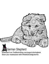 coloring book german shepherd puppies shepherd puppies and