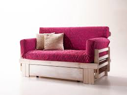 rustic sofa bed wooden with container idfdesign