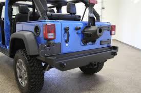 jeep wrangler jk tires rock 4x4 8482 aluminum patriot series rear bumper w o tire