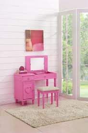 Pink Vanity Table F4176 Pink Vanity Set By Poundex