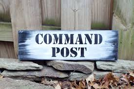 hand pained u0026 lettered wood sign command post ready to ship