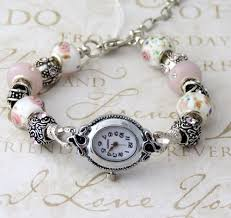 european style charm bracelet images Pink and white european style watch charm bracelet ew1513 jpg