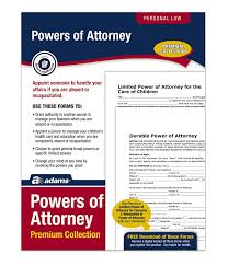 Free California Power Of Attorney Form by Amazon Com Adams Power Of Attorney Forms Pack Includes Forms