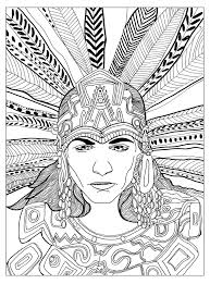 free coloring page coloring chief mayan by olivier a great