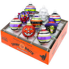 christopher radko ornaments shiny brite halloween figures u0026 rounds