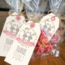 twin bunny baby shower favor tags woodland twin baby shower