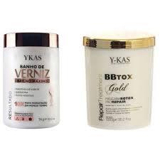 Fabuloso Kit Ykas Botox Capilar e Banho de Verniz 1 kg - Refletindo Você  #AK31
