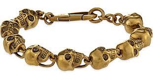bracelet men skull images Lyst alexander mcqueen doctor skull bracelet in brown for men jpeg