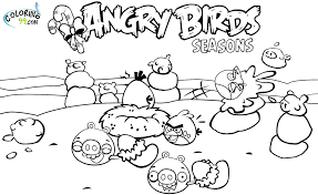 angry birds seasons coloring pages angry birds seasons