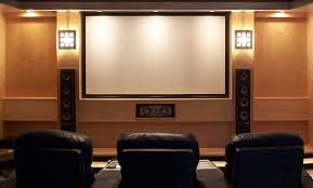 Home Theater Interior Design Ideas Interior Romantic Small Home Theater With Pink Sofa And Curtains