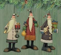 williraye studio 12 days of santa ornaments set of 3