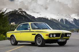 bmw vintage cars image bmw 1971 73 3 0 csl worldwide e9 yellow vintage mountains