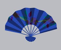 japanese folding fan vintage japanese folding fan vector illustration royalty free