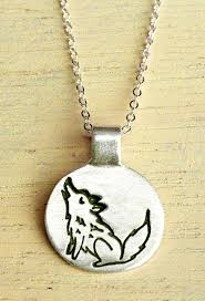 silver wolf necklace images Silver wolf necklace full time etsy crafters pinterest wolf jpg
