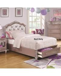 sweet deal on caroline collection 400891t twin size storage bed