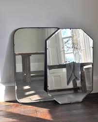 Bevelled Mirror Black Frame Mirror Ines Cole