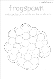 frog spawn outline template for craft activity