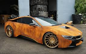 Bmw I8 Mirrorless - rust wrapped bmw i8 from metrowrapz for austin mahone insidehook