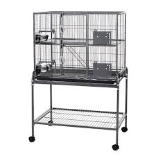 Cheap Rat Cage Little Friends Triple Metal Rat Chinchilla Ferret Cage On Stand