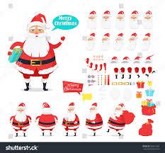 merry christmas collection santa claus icons stock vector