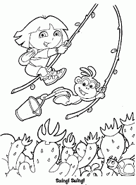 coloring pages endearing dora coloring picture boots color
