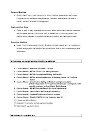 Resume Qualities Cynthia Resume