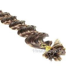 25 u nail tip fusion deep wave curly remy human hair extensions