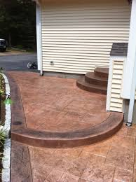 Stain Existing Concrete Patio by Artistic Stamped Concrete Of Rhode Island Artistic Concrete