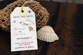 save the date luggage tags wedding invitation hawaii save the date luggage tag magnet
