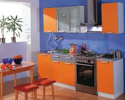 blue kitchen decorating ideas orange and blue kitchen decor interior designing home ideas 14684