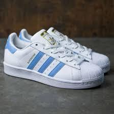 adidas superstar light blue cheap white light blue gold metallic adidas superstar w trainer