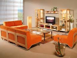 Living Room Furniture Designs Interior Design With Regard To - Orange living room set