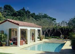 Backyard Pool House by Spanish Colonial Style Pool U0026 Pool House In Santa Monica