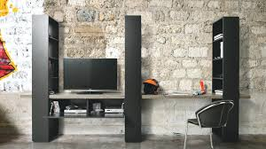 bureau sur meuble bureau secretaire design meuble de rangement sur mesure