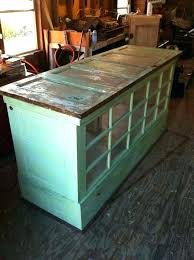 used kitchen island used furniture kitchen island made from doors and windows we