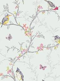 Floral Shabby Chic Wallpaper by Birds And Branches Shabby Chic Wallpaper Teal The Shabby Chic Guru