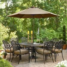 Sears Patio Umbrella by Arcadia 9 Pc Dining Set Get Upscale Outdoor Dining Ideas From Sears