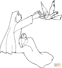 mary and the angel coloring page fleasondogs org