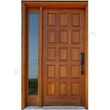 Wooden Main Door by Solid Wooden Panel Door With Frame Hpd427 Solid Wood Doors Al