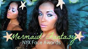 Mermaid Halloween Makeup Ideas Mermaid Fantasy Makeup Nyx Face Awards Youtube
