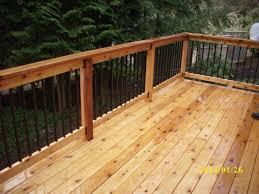 metal railings for decks railing with square metal balusters