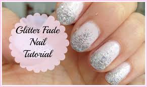 glitter fade ombre nail tutorial youtube
