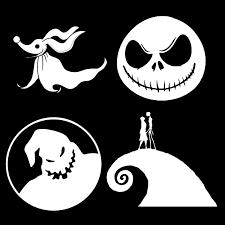 Nightmare Before Christmas Vinyl Decals Set Of 4 Stickers