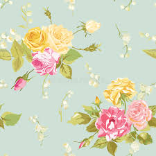 seamless floral shabby chic background stock illustration