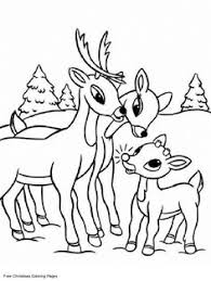 printable santa and reindeer coloring page christmas coloring